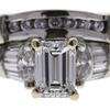 1.04 ct. Emerald Cut Bridal Set Ring, D, VS2 #4