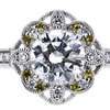 1.00 ct. Round Cut Halo Ring, F, SI1 #4