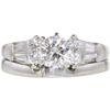0.59 ct. Round Cut Bridal Set Ring, G, VS2 #3