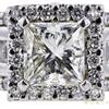 2.05 ct. Princess Cut Halo Ring, K, SI2 #4