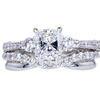 Art Deco GIA 1.01 ct. Radiant Cut Bridal Set Ring, F, VS1 #3