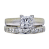 1.02 ct. Princess Cut Bridal Set Ring, E, VS2 #3
