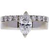 1.0 ct. Marquise Cut Bridal Set Ring, E, I1 #3