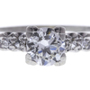 0.65 ct. Round Cut Right Hand Ring, H, VS1 #4