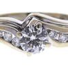 0.6 ct. Round Cut Bridal Set Ring, G, VS2 #4