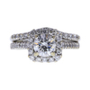 1.0 ct. Round Cut Bridal Set Ring, G, I1 #3