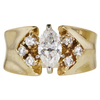 0.7 ct. Marquise Cut Ring, F, I1 #1