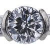 1.52 ct. Round Modified Brilliant Cut Bridal Set Ring, G, VS1 #4