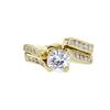 1.02 ct. Round Cut Bridal Set Ring, G, SI1 #4