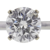 1.51 ct. Round Cut Solitaire Ring, F, I1 #4