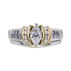 0.74 ct. Marquise Cut Bridal Set Ring, G, SI2 #4