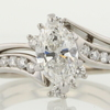 1.10 ct. Marquise Cut Bridal Set Ring #1