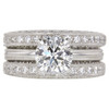 1.24 ct. Round Cut Bridal Set Ring, J, SI1 #3