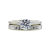0.76 ct. Round Cut Bridal Set Ring, I, VS2 #3