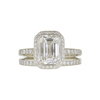 2.01 ct. Emerald Cut Halo Ring, G, VS1 #3