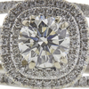 1.01 ct. Round Cut Bridal Set Ring, K, VS2 #4