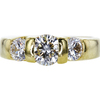 0.75 ct. Round Cut 3 Stone Ring, G-H, VS1-VS2 #1
