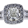 1.20 ct. Cushion Cut Bridal Set Ring, K, SI1 #2