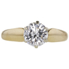 0.92 ct. Round Cut Solitaire Ring, G, SI2 #3