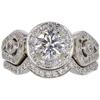 0.72 ct. Round Cut Bridal Set Ring, F, SI2 #3