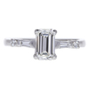 1.03 ct. Emerald Cut Solitaire Ring, H, SI2 #3