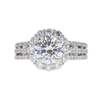 1.8 ct. Round Cut Halo Ring, H, SI1 #3