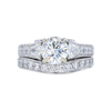 1.51 ct. Round Cut Bridal Set Ring, I, I1 #3