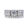0.96 ct. Round Cut Bridal Set Ring, J, SI2 #3