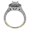 0.95 ct. Princess Cut Halo Ring, H-I, I1 #1
