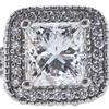 1.53 ct. Princess Cut Halo Ring, I, SI1 #4
