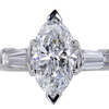 1.85 ct. Marquise Cut 3 Stone Ring #3