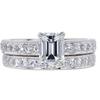 1.22 ct. Emerald Cut Bridal Set Ring #1