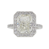 4.01 ct. Radiant Cut Halo Ring, K, SI1 #3
