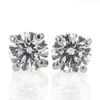 .84 ct. Round Cut Stud Earrings #1