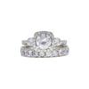 0.88 ct. Round Cut Bridal Set Ring, I-J, I1 #2