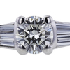 0.71 ct. Round Cut Bridal Set Ring, I, SI1 #4