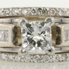 0.99 ct. Princess Cut Bridal Set Ring #1