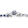 Antique GIA 1.49 ct. Circular Brilliant Cut Bridal Set Ring, F, SI1 #3