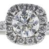 0.96 ct. Round Cut Bridal Set Ring, J, SI2 #4