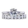 0.77 ct. Round Cut Bridal Set Ring, D, I1 #3