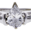 1.13 ct. Pear Cut Solitaire Ring, E, SI1 #4