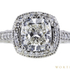 3.01 ct. Cushion Cut Halo Ring #4
