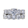 1.40 ct. Round Cut Bridal Set Ring, H, I2 #3