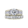 1.50 ct. Round Cut Bridal Set Ring, J, I2 #3