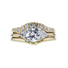 0.75 ct. Round Cut Bridal Set Ring, G, SI1 #3