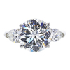 5.01 ct. Round Cut 3 Stone Ring, I, SI1 #2