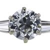 1.54 ct. Old European Cut 3 Stone Ring, J, VS1 #4