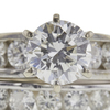 0.94 ct. Round Cut Bridal Set Ring, H, SI2 #4