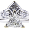 1.19 ct. Trilliant Cut Bridal Set Ring, H, SI2 #4