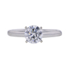 0.96 ct. Round Cut Solitaire Ring, D, I1 #3